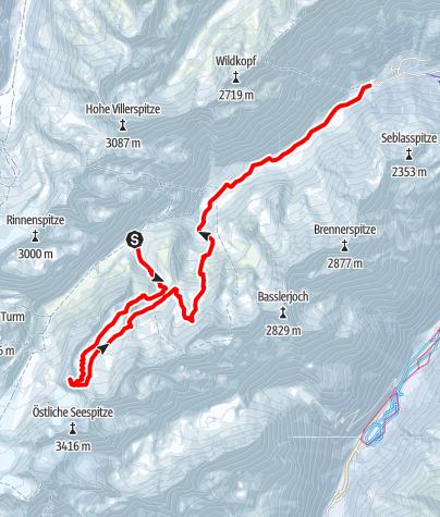 Karte / Innere Sommerwand (3122 m)