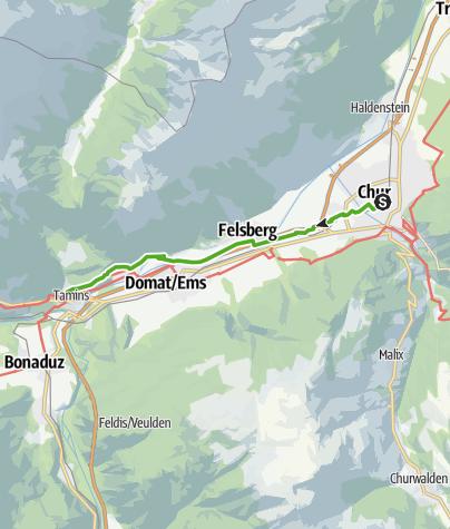 Karte / 6.01 Chur - Tamins, Alpenpässe-Weg