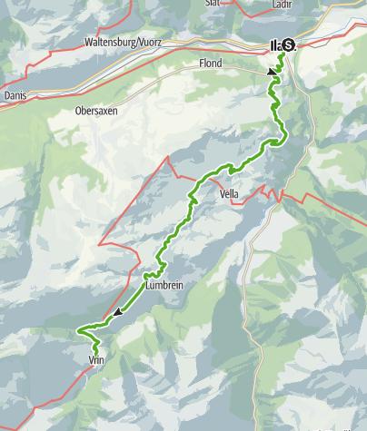 Map / 6.03 Ilanz - Vrin, Alpine Passes Trail