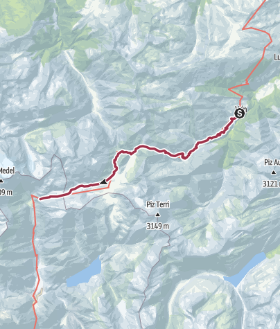 Alpenpässe Karte.6 04 Vrin Cab Scaletta Sat Alpenpässe Weg Wanderung