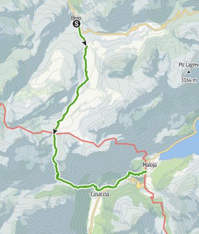 Karte / 25.02 Bivio - Maloja, Senda Segantini