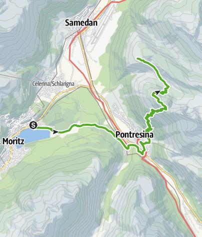 Map / 25.04 Pontresina - Samedan, Senda Segantini