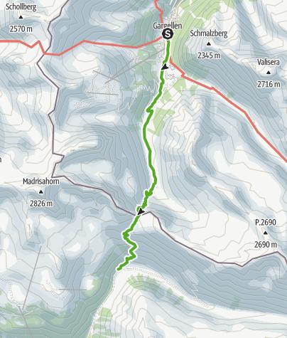 Map / 30.01 Gargellen (A) - Klosters (Schlappin), ViaValtellina