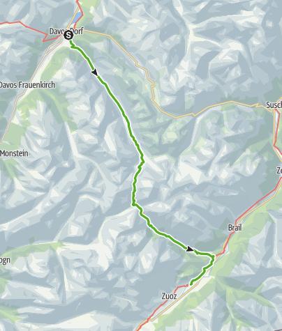 Map / 30.03 Davos - S-chanf, ViaValtellina
