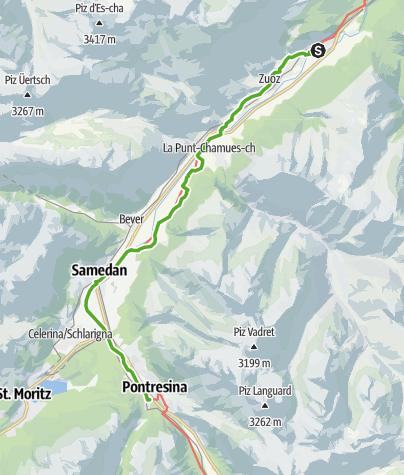 Karte / 30.04 S-chanf - Pontresina, ViaValtellina