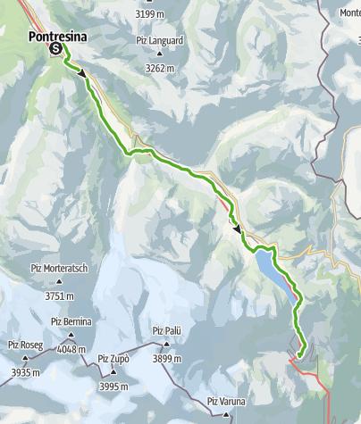 Karte / 30.05 Pontresina - Alp Grüm, ViaValtellina