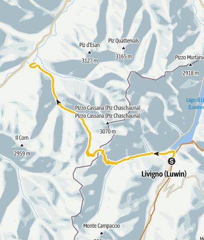 Map / 444.03: Nationalpark Bike-Tour 3. Etappe Livigno - S-chanf