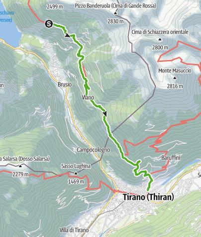 Map / 30.07 S. Romerio - Tirano (I), ViaValtellina