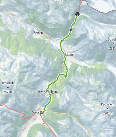 Karte / 30.02 Klosters (Schlappin) - Davos, ViaValtellina