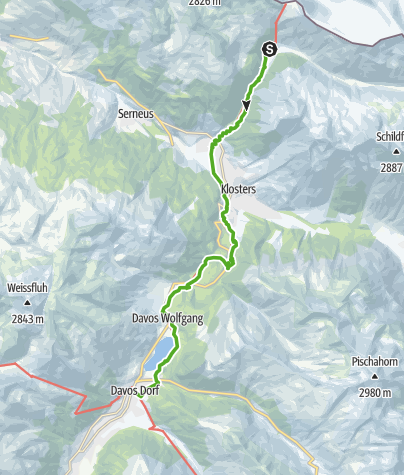 Map / 30.02 Klosters (Schlappin) - Davos, ViaValtellina