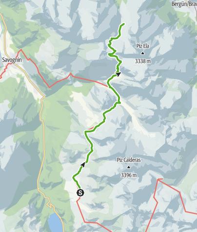 Karte / 35.11 Alp Flix - Chamonas d'Ela CAS, Walserweg