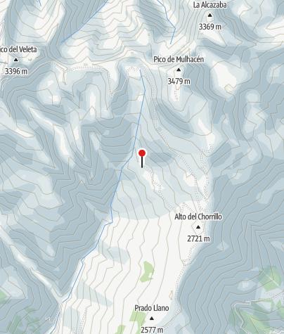 Karte / Refugio Poqueira