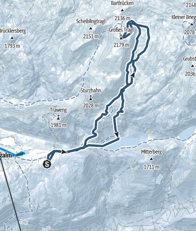 Karte / Gr. Tragl vom Linzer Tauplitzhaus
