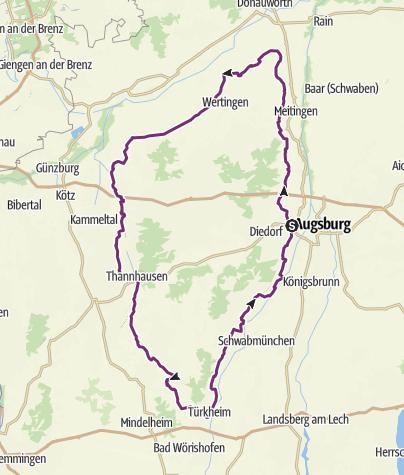 Karte / Augsburger Schlössertour
