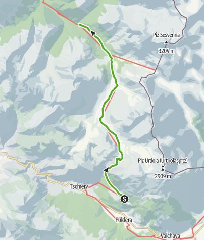 Map / 43.02 Lü - S-charl, Jakobsweg Graubünden