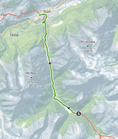 Map / 43.03 S-charl - Scuol, Jakobsweg Graubünden