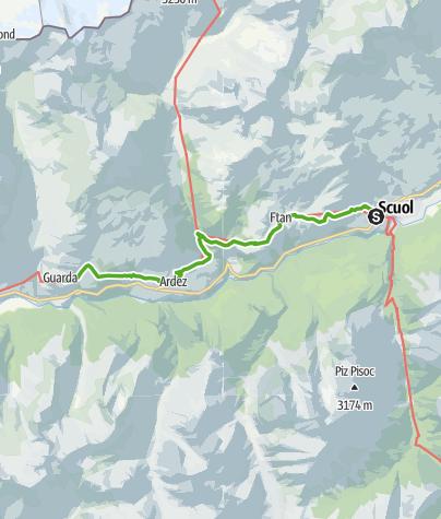 Map / 43.04 Scuol - Guarda, Jakobsweg Graubünden