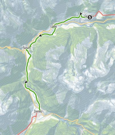 Map / 43.05 Guarda - Zernez, Jakobsweg Graubünden