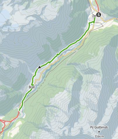 Map / 43.06 Zernez - S-chanf (Cinous-chel), Jakobsweg Graubünden