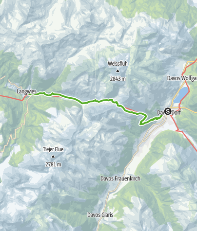 Map / 43.09 Davos Dorf - Langwis, Jakobsweg Graubünden