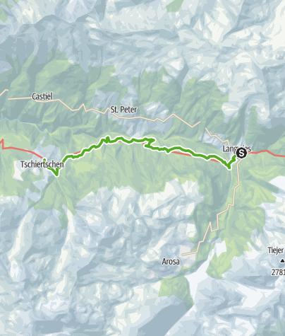 Map / 43.10 Langwis - Tschiertschen, Jakobsweg Graubünden