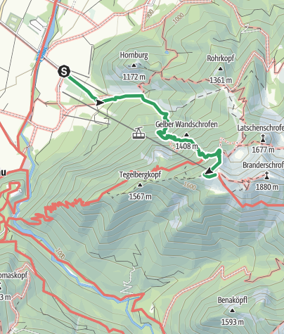 Karte / Tegelbergsteig Klettersteig Schwangau  (B/C )