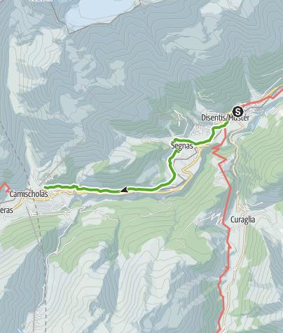 Karte / 43.18 Disentis - Sedrun, Jakobsweg Graubünden