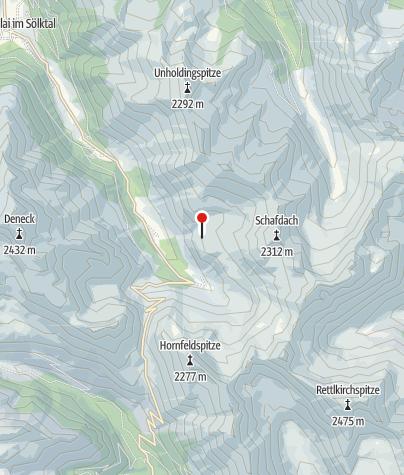 Karte / Mahdfeldhütte 1718 m