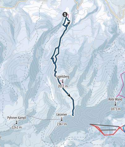 Karte / Warscheneck 2388 m über Zellerschneise