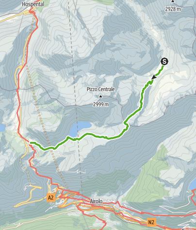 Map / 49.02 Vermigelhütte - Gotthardpass, Vier-Quellen-Weg