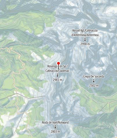Map / How the Rosengarten got its name