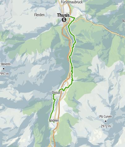 Map / 50.01 Thusis - Andeer, ViaSpluga