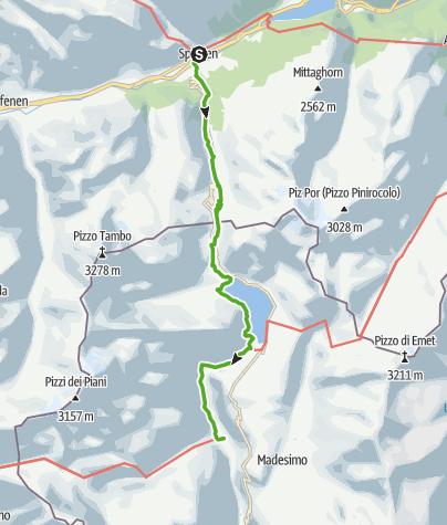 Karte / 50.03 Splügen - Isola (I), viaSpluga