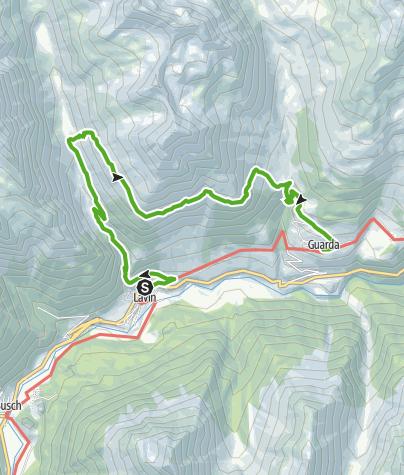 Map / Via Engiadina. Etappe 2, Lavin - Guarda