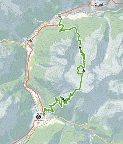 Karte / Macun: Aussergewöhnlich in vielerlei Hinsicht