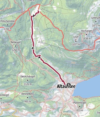 Map / Walk to the Blaa Alm