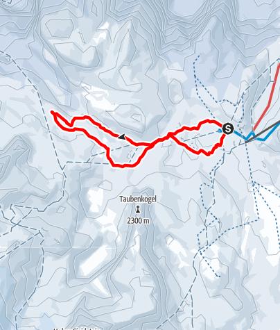 Karte / Wiesberghaus (1.881m) von der Gjaidalm (1.738m)