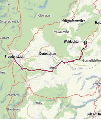 Map / Gäurandweg Etappe 5   Waldachtal - Salzstetten - Freudenstadt