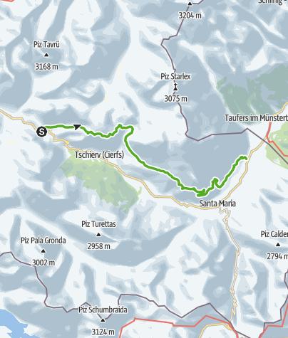 Karte / Senda Val Müstair – Über allem wacht der Ortler.