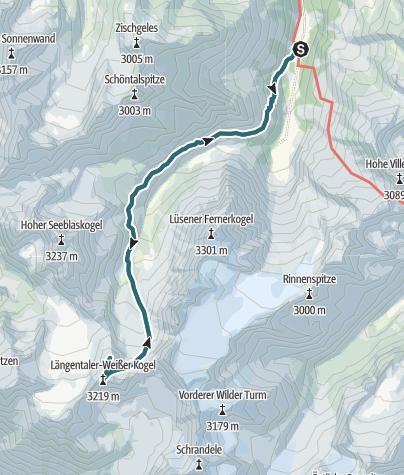 Map / Längentaler Weißenkogel 3218 m und Bachfallenkopf Sellrain (1)