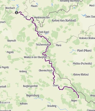 Karte / Radweg im Bayerischen Wald