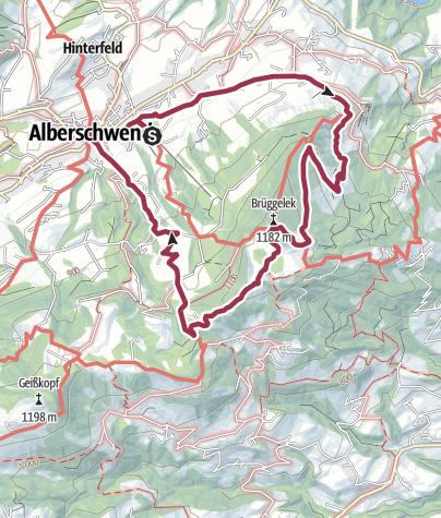 Karte / Alberschwende | Gipfelerlebnis am Brüggelekopf