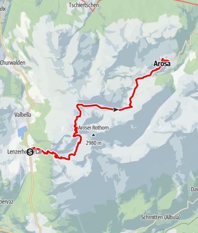 Karte / 54.01 Lenzerheide - Arosa, Mittelbünden-Panoramaweg
