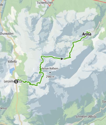 Map / 54.01 Lenzerheide - Arosa, Mittelbünden-Panoramaweg