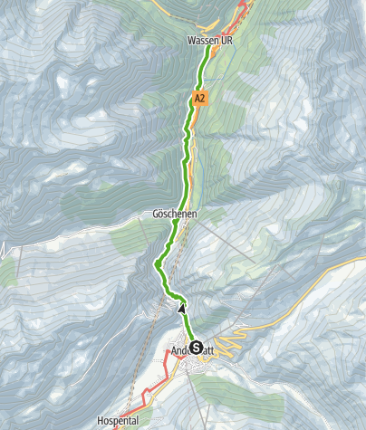 Map / 55.03 Andermatt - Wassen, ViaSuworow