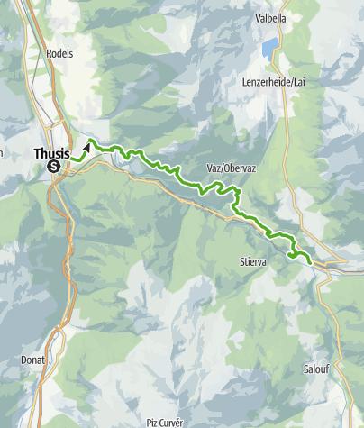 Karte / 64.01 Thusis - Tiefencastel, ViaSett