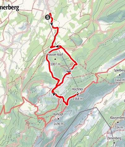Karte / Samerberg - auf die Hochries über den Moserboden - DAV-Weg 216 b