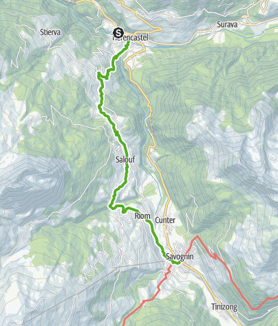 Karte / 64.03 Tiefencastel - Savognin, ViaSett