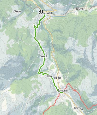 Map / 64.03 Tiefencastel - Savognin, ViaSett