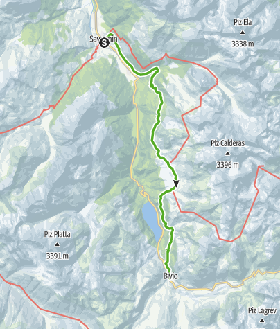 Map / 64.03 Savognin - Bivio, ViaSett